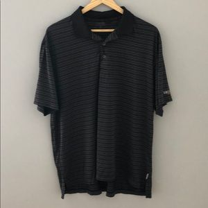 IZOD Black and Grey Stripe Polo Shirt